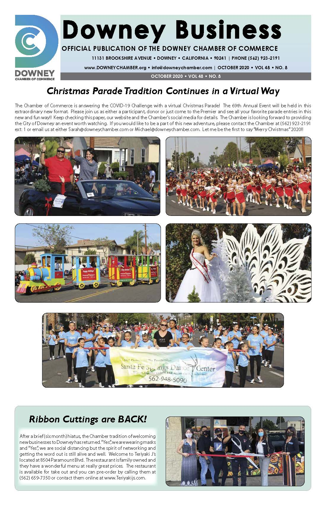Downey Christmas Parade 2020 Downey Business Newsletters   Downey Chamber of Commerce